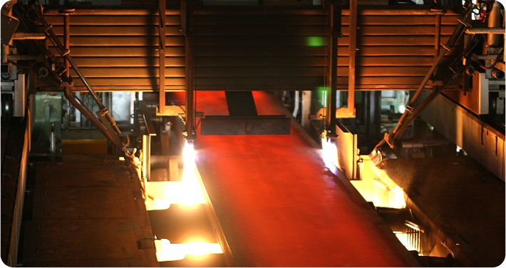 Steel-making plant:No.2 continuous casting machine